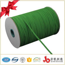 Banda elástica trenzada de elasticidad tejida fuerte colorida plana