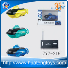 2016 Los más populares 777-219 4 canales rc submarino juguete super mini barco con luz para la venta