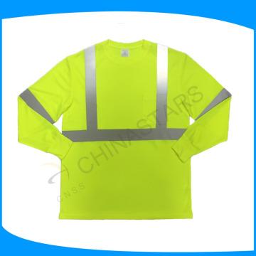 Tipo de fornecimento de serviço do OEM Long Sleeve Reflective Safety Shirts