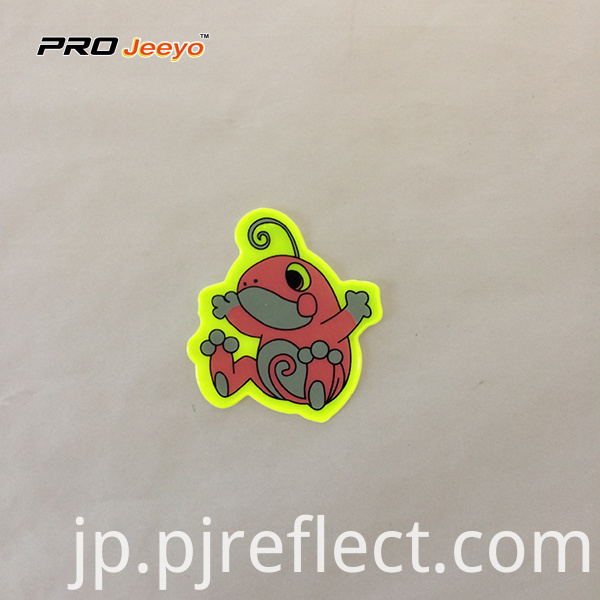 Reflective Adhesive Pvc Frog Shape Stickers For Children Rs Dw001