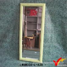 Handwerk Handgemachte Holzfarbe Wand Verkleiden Spiegel