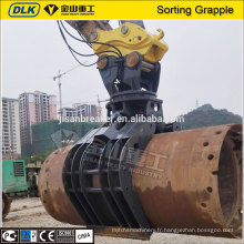 Chine Fournisseur hydraulique pelle attachements rotation démolition tri grappin