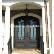 Diseños de puerta de hierro galvanizado en caliente / puerta de hierro forjado