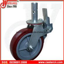 Wanda Supplier High Quality Scaffold Caster with 8 Inch TPU Wheel