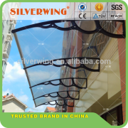 New design DIY manual plastic support polycarbonate gazebo awnings 1500 projection