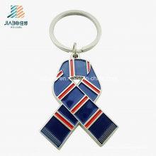 Alliage de cadeau promotionnel en gros d'émail fait sur commande d'écharpe Keychain