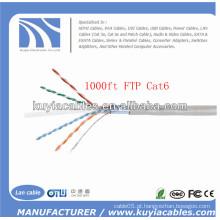 1000FT / 305M FTP Cat6 cabo de rede