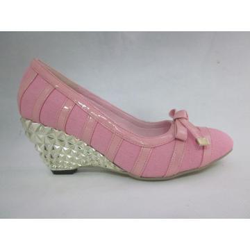 2016 Fashion High Heel Chuncky Damen Kleid Schuhe (HCY03-099)
