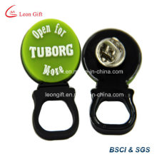 Tuborg Design Soft Rubber Lapel Pin Holder Custom