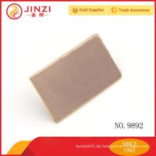 Gold modische quadratische Metallanhänger für Handtaschen