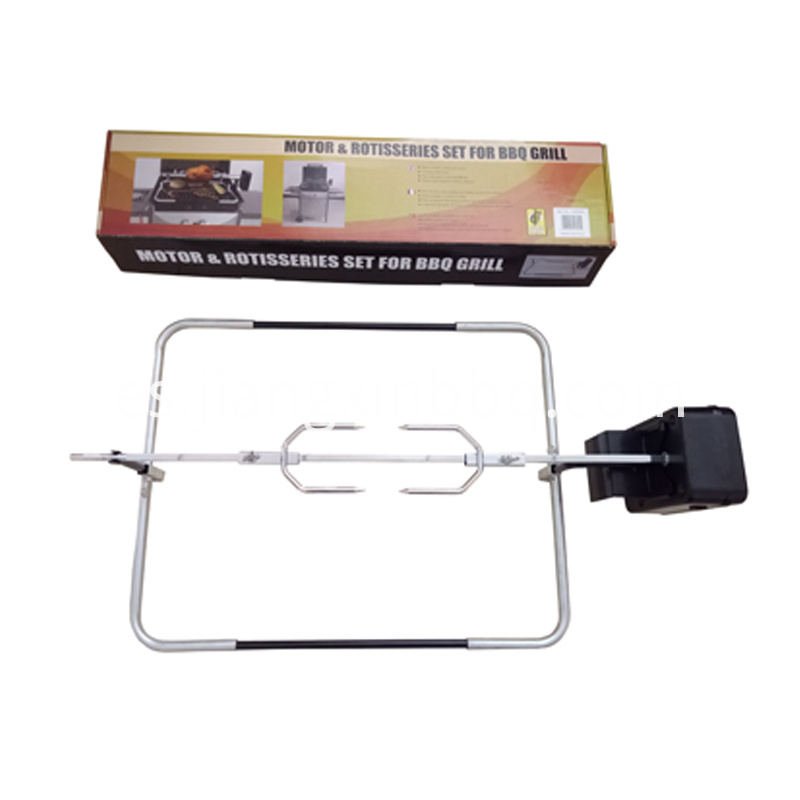 Universal Gas Barbecue Grill Rotisserie Kit With Package