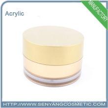 Novo design cosméticos embalagem recipiente acrílico frasco cosmético fabricante
