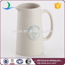 House use ceramic water filter pitcher with printing logo for customer