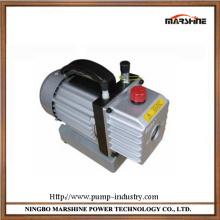 Horizontal portable double stage rotary vane vacuum pump