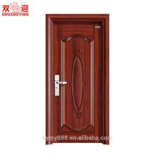 Puerta del sitio de puerta interior de la puerta de acero del último diseño del proveedor del oro de China