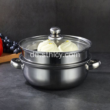 Multifunktions-Double Layer Steamer Pot Suppentopf