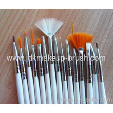 High Quality 15pcs Nail Brush Set With White Handle
