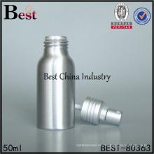 Botellas de aluminio a granel de 50 ml con spray