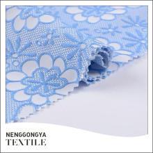 Made in China Designer elegante jacquard tecido bonito para vestidos