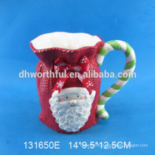 Custom Ceramic Christmas Mug with santa claus shape