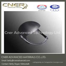 Tipo de suministro hecho a pedido casco de seguridad de fibra de carbono de alta resistencia, pieza de fibra de carbono