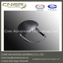 Made to order supply type high strength carbon fiber safety helmet, carbon fiber part
