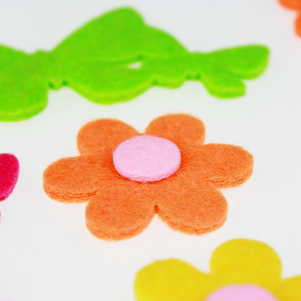 Daisy felt sticker assortment