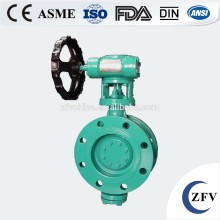 Factory Price Worm Gear Actuated Flange Triple Eccentric Butterfly Valve