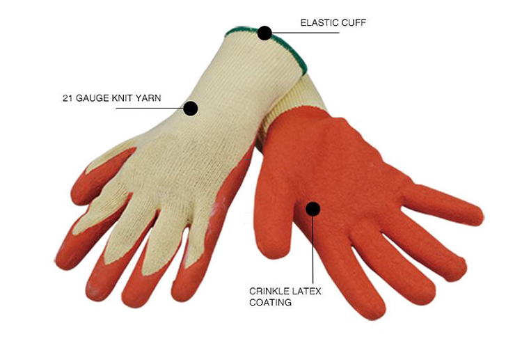 Crinkle Coated Working Glove