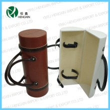 Caixa de embalagem luxuosa do vinho de couro (HX-PW020)