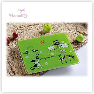 150kg ABS Glass Electronic Weight Scale (22.7*19.7*2.4cm)