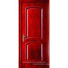 Porta de madeira superior do arco Interior de carvalho vermelho