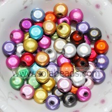 Spring 4mm Ring Round Bubble Imitation Swarovski Beads