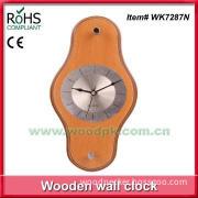 Modern design wooden watch shape wall clock office gift clock