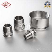 Adaptador sanitário de tubo de aço inoxidável 21MP NPT