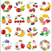 Round Shape Cartoon fruit Flower Design Iml, en etiqueta de molde