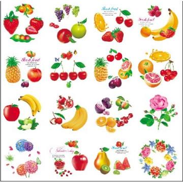 Round Shape Cartoon fruit Flower Design Iml, en etiqueta de molde