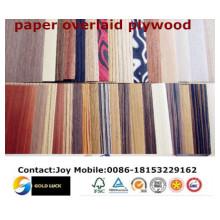 Brilliant Flower Design Paper Contreplaqué / contreplaqué en papier / contreplaqué laminé en papier
