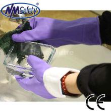 NMSAFETY luva de látex de punho longo / luva de borracha para uso doméstico / luvas de lavagem de látex
