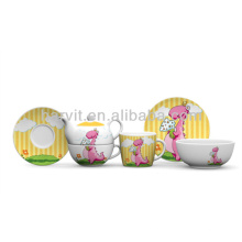 Set de desayuno de porcelana de 3 piezas