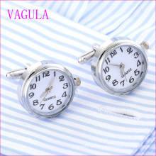 VAGULA Qualität Heiße Verkäufe Uhr Gemelos Silber Manschettenknöpfe (328)
