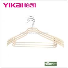 2015 granel PVC casaco titular / cabide com ombros largos em cor natural