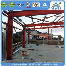 Bâtiment d'entrepôt préfabriqué préfabriqué en acier à carton ondulé supérieur à coût réduit