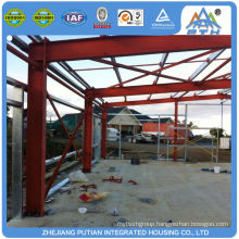 Low cost superior corrugated color steel prefabricated warehouse building