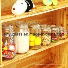 Preserve Glass Jar Storage Jar with Clip Clamp Lid