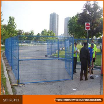 Clôture de site temporaire de site / jardin revêtu de plastique