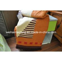Тканый хлопок и полиэстер смешанные одеяло (NMQ-CPT007)