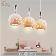 Moderne LED-Muster Keramik Pendelleuchte mit E27-Lampe