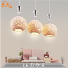 Lampe à suspension moderne en céramique à motif LED avec ampoule E27