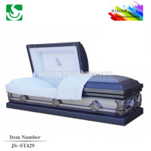 JS-ST429 luxury gold china metal caskets supplier